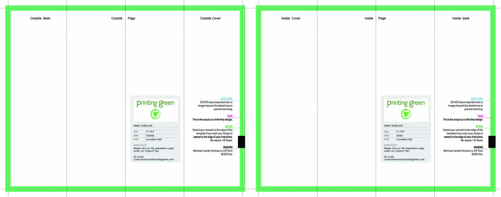 Brochure TemplateJPEGPrinting Services - Accordion fold brochure template
